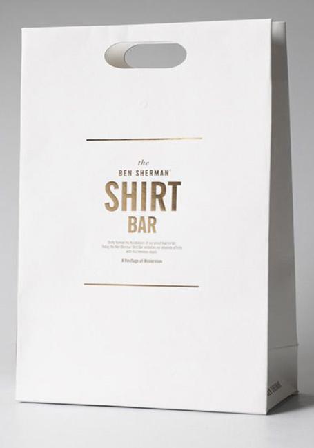 Mẫu túi giấy quảng cáo quần áo
