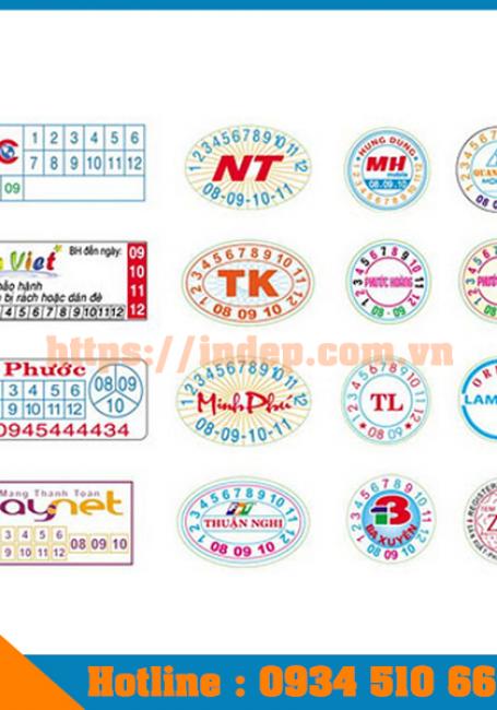 Top 6 mẫu in tem bảo hành cực đẹp mới cập nhật