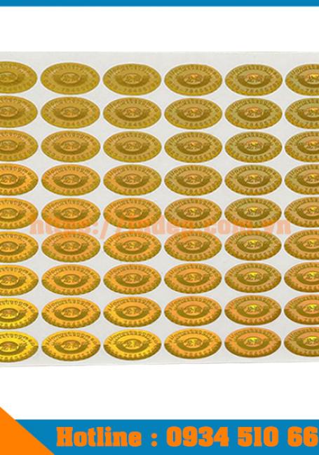 Dịch vụ in tem chống giả hologram giá tốt