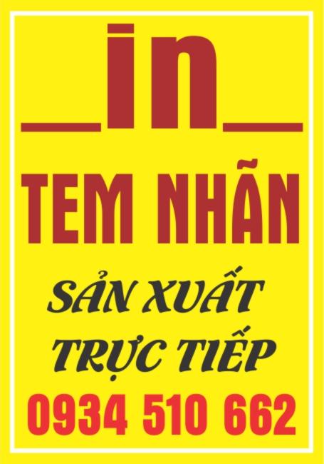 Cơ Sở In Tem Dán Tại Hà Nam