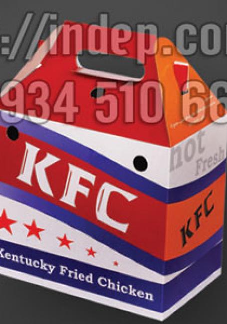 In vỏ hộp đựng gà rán, in vỏ hộp đựng gà