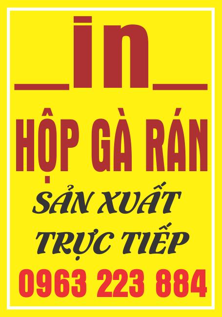 Dịch Vụ In Bao Bì Đựng Gà Rán Tại Bắc Ninh