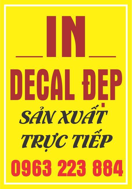 Dịch vụ in tem decal giấy không qua khâu trung gian giá tốt