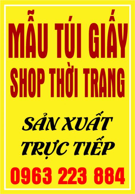 Những Mẫu Túi Giấy Dành Cho Shop Thời Trang