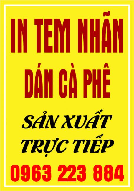 Dịch Vụ In Tem Nhãn Cà Phê