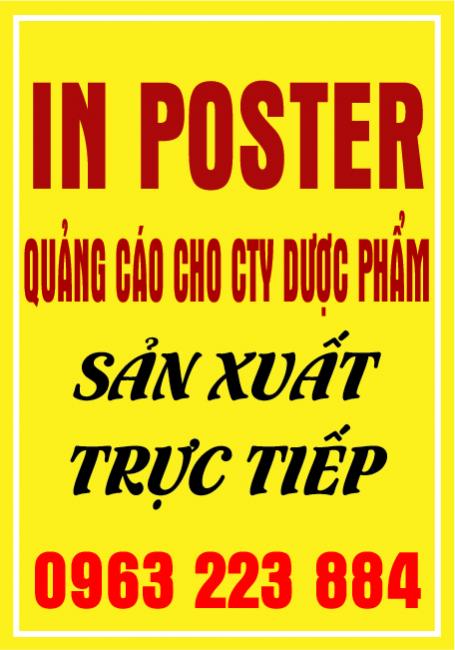 Nhận In Poster Quảng Cáo Cho Cty Dược Phẩm, TPCN
