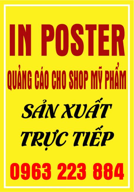 Dịch Vụ In Poster Giới Thiệu Mỹ Phẩm Cho Cty