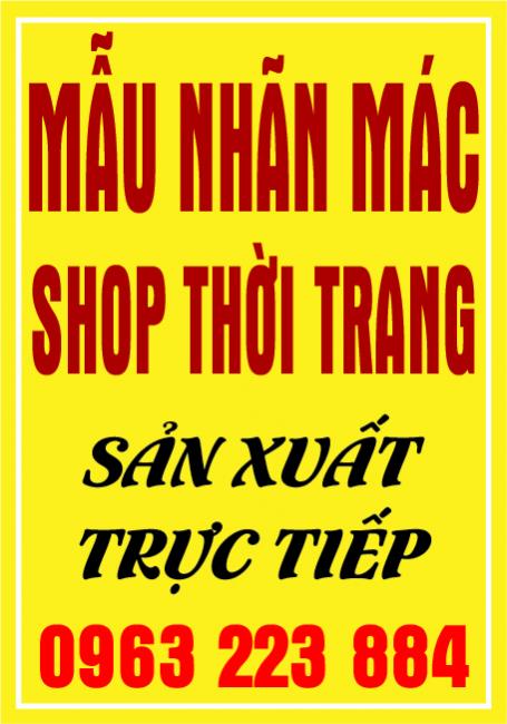 Mẫu Nhãn Mác Dán Dành Cho Shop Thời Trang