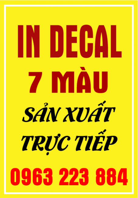 In Decal 7 Màu