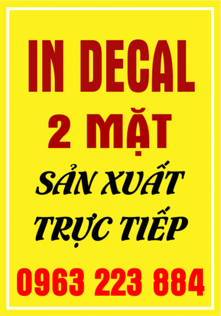Dịch Vụ In Decal 2 Mặt Giá Rẻ