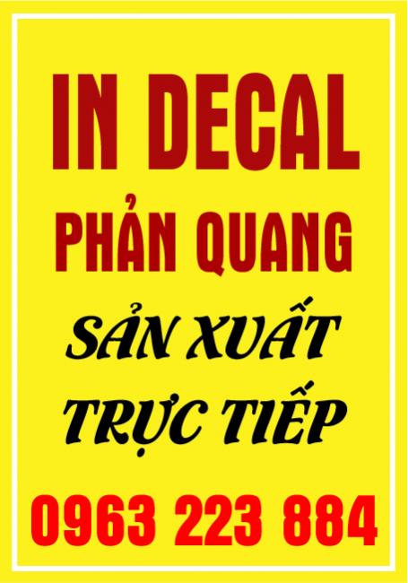 In Decal Phản Quang Giá Tốt Trên Thị Trường