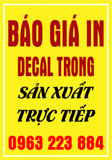Bảng Giá In Decal Trong