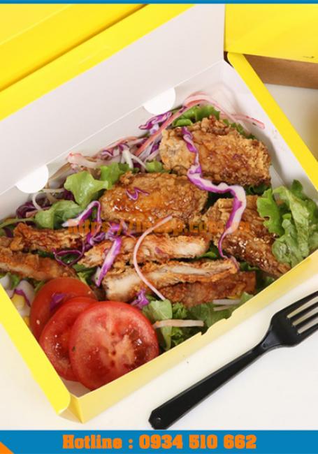 Làm hộp giấy, thiết kế hộp giấy đựng đồ ăn nhanh giá cả hợp lý