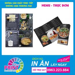 In Menu nhựa - giải pháp tối ưu nhất cho các quán ăn, nhà hàng