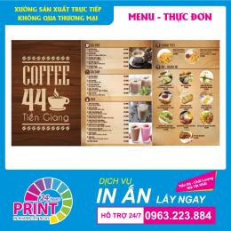 Muốn thôi thúc khách hàng gọi món, đừng quên nghệ thuật thiết kế và in ấn menu