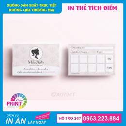 Top 10 mẫu thẻ tích điểm đẹp, thiết kế và in ấn chất lượng