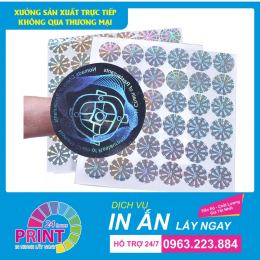 Dịch vụ in gấp tem bảo hành lấy ngay trong 2 giờ tại Hà Nội