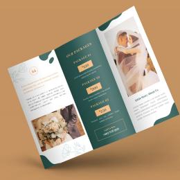 Các mẫu thiết kế Brochure dành cho doanh nghiệp cung cấp dịch vụ tiệc cưới