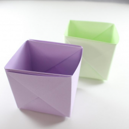 Hướng dẫn cách làm hộp đựng bút bằng cách gấp giấy Origami