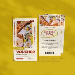Các mẫu voucher nhà hàng , quán ăn đẹp thu hút khách hàng