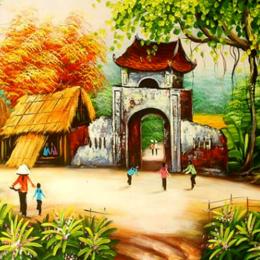 3 bước vẽ tranh phong cảnh quê hương cực kỳ đơn giản