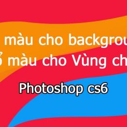 Cách đổ màu vùng chọn trong photoshop dễ nhất